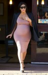 Pregnant Kim Kardashian out in Malibu