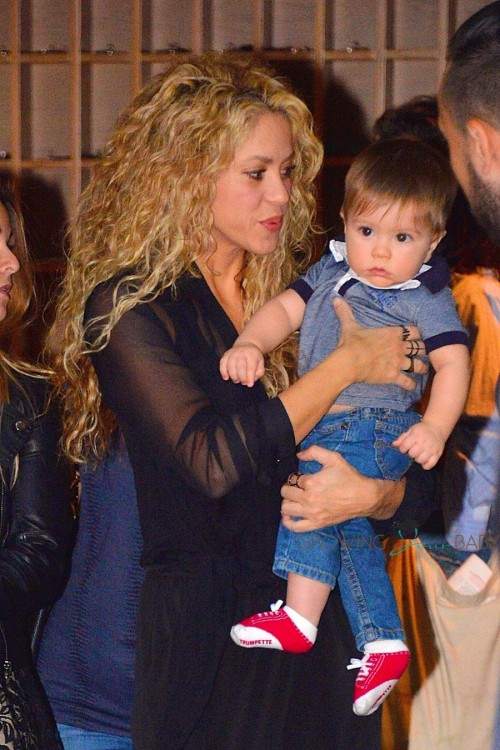 Shakira Steps Out In NYC With Son Sasha