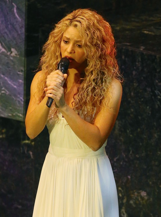 Shakira Sings At The United Nations During Pope Francis' Visit