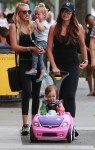 Tamara and Petra Ecclestone out in LA with their daughters Lavinia and Sophia
