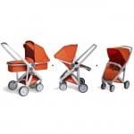 Upp Carrycot, Reversible & Classic Grey-Orange