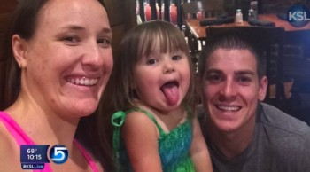 emily and Chase Morgan with daughter Chloe
