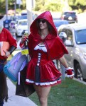 Alessandra Ambrosio dressed up for Halloween in LA