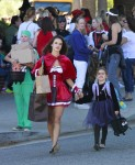 Alessandra Ambrosio dressed up for Halloween with her daughter Anja Mazur