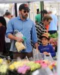 Ben Affleck with daughter Seraphina at the market