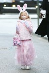 Bryn Hoppy leaves   a Halloween Party with mom Bethenny Frankel