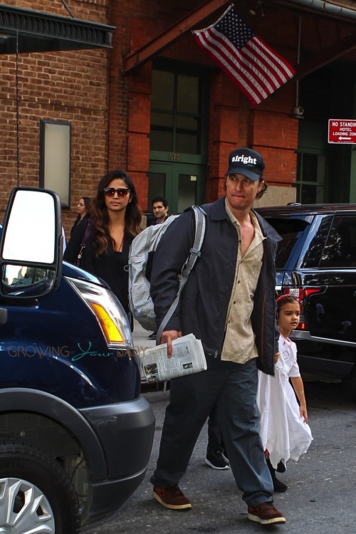 Camila Alves and Matthew McConaughey out in NYC with kids Vida and Levi McConaughey