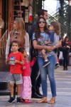 Camila Alves out in NYC with kids Levi, Vida & Livingston McConaughey