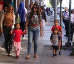 Camila Alves out in NYC with kids Levi, Vida and Livingston McConaughey