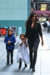 Camila Alves out in NYC with kids Vida & Levi McConaughey