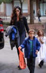 Camila Alves out in NYC with kids Vida and Levi McConaughey