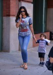 Camila Alves out in NYC with son Livingston McConaughey
