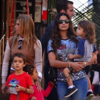Camila Alves Steps Out With Her Kids in NYC