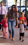Camila Alves out in New York City with kids Levi, Vida and Livingston McConaughey
