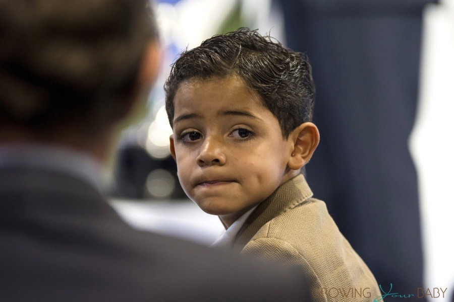 Cristiano Ronaldo Jr At His Dad S Ceremony While He