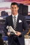Cristiano Ronaldo accepts his award