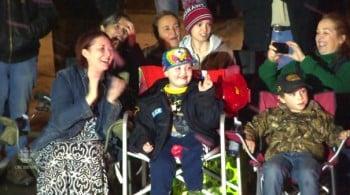 Evan Leversage - enjoying the christmas parade