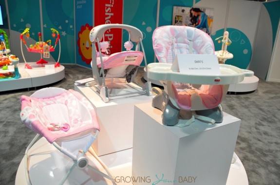 Fisher-Price Highchair and Sleeper in Pink