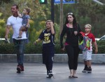 Gavin Rossdale out in LA with sons Apollo, Zuma and Kingston