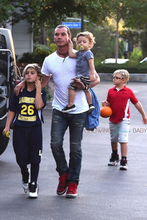 Gavin Rossdale Steps Out With His Boys