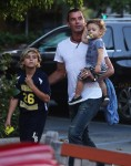 Gavin Rossdale out in LA with sons Apollo and Kingston