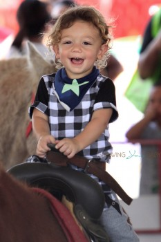 Gwen Stefani's son Apollo Rossdale at Shawn's pumpkin patch