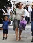 Jennifer Garner at the market with her son Sam