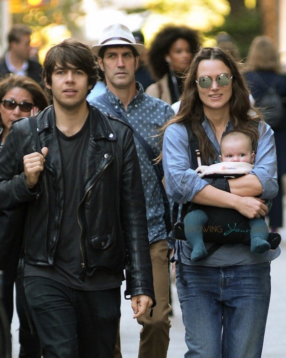 Keira Knightley & James Righton Step Out With Baby Edie In NYC
