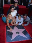 Kelly Ripa & Mark Consuelos with kids Michael, Lola and Joaquin at The Hollywood Walk Of Fame ceremony
