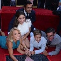 Kelly Ripa & Mark Consuelos with kids Michael, Lola and
