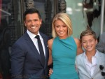 Kelly Ripa with husband Mark Consuelos and son Joaquin at the Hollywood Walk of Fame Star Ceremony