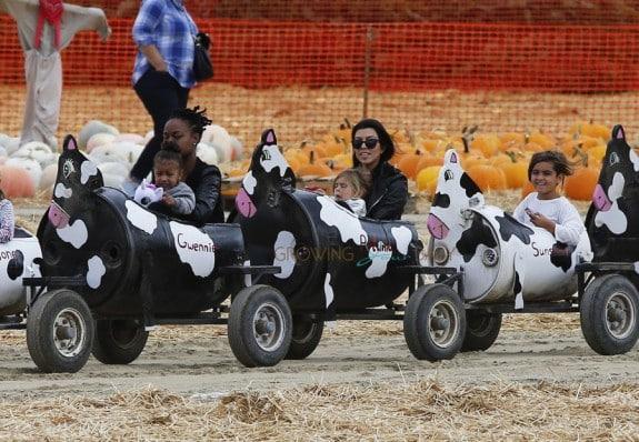 Kourtney Kardashian Enjoys Underwood Family Farms with kids Penelope, Mason and Niece North West