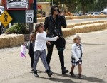 Kourtney Kardashian Enjoys Underwood Family Farms with kids Penelope, Mason and Niece North West
