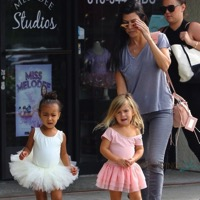 Kourtney Kardashian Takes Penelope & North To Dance Class