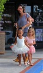 Kourtney Kardashian at ballet class with daughter Penelope and niece North West