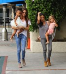 Kourtney Kardashian at ballet class with daughter Penelope & niece North West
