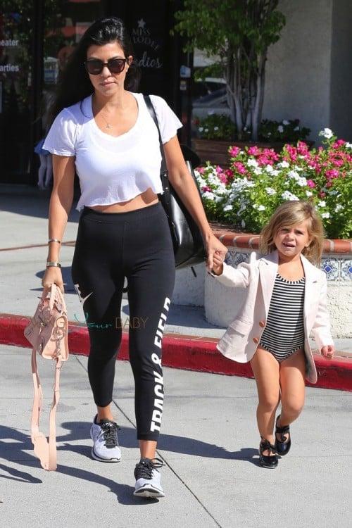 Kourtney Kardashian leaves Ballet class with daughter Penelope Disick