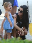 Kourtney Kardashian out in LA at the park with daughter Penelope Disick