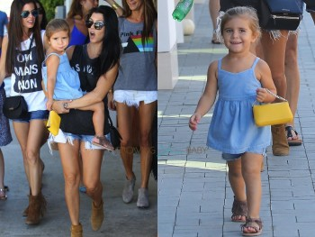Kourtney Kardashian out in LA shopping with daughter Penelope Disick 10:109:15
