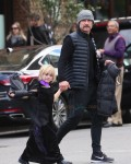 Liev Schreiber leaves a Halloween party with son Sam