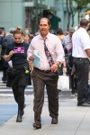 Matthew McConaughey seen filming for his upcoming movie 'Gold' in NYC