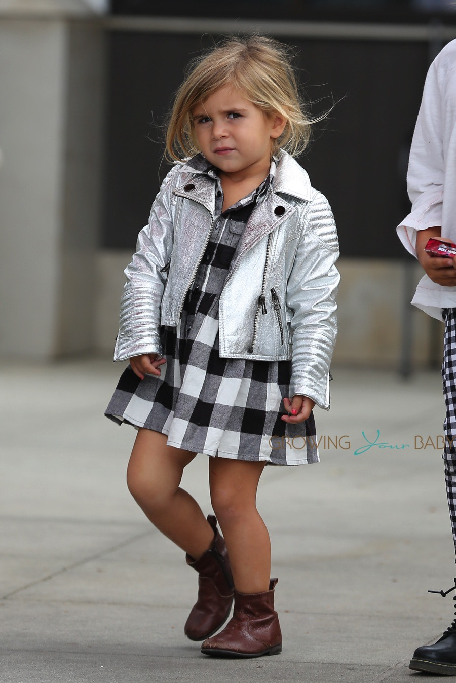 Penelope Disick Out For Lunch In La on baby car seat stroller