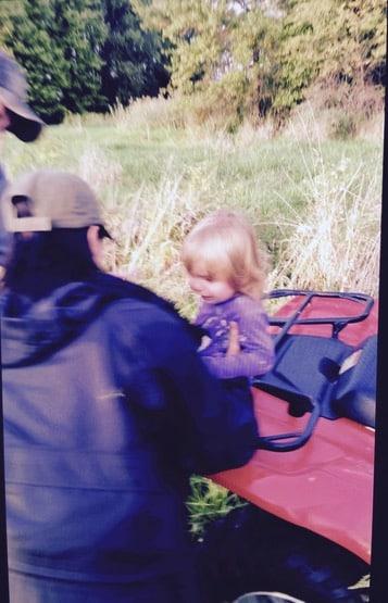The moment Rainn was found. Courtesy Trumbull County Deputy Chief Ernie Cook via WKBN