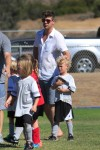Robin Thicke with his son Julian at his soccer game