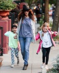 Sarah Jessica Parker does the school pickup with daughters Tabitha & Marion
