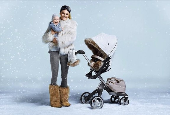 Stokke Stroller Winter Kit - White on Xplory
