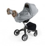 Stokke Stroller Winter Kit - white on the Xplory