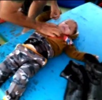 Turkish Fisherman Rescue Baby at Sea