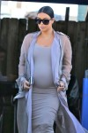 Very Pregnant Kim Kardashian leaves a studio in LA
