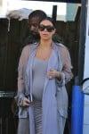 Very Pregnant Kim Kardashian leaves a studio in LA with husband Kanye West